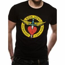 bonabon JOVI T-shirt per tutta THE HEART BLACK gonna Unisex Taglie: M, L, XL,