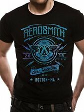 Aerosmith T-Shirt Aeroforce One Black Rock Unisex Taglie: M,L,XL,XXL Nuovo