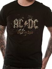 Acdc T-Shirt Rock Or Bust Black Rock Unisex Taglie: M,L,XL,XXL Nuovo