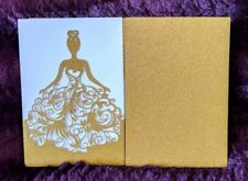 Glitter Laser Cut Party Invitations Wedding Invitations with Envelopes