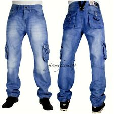 Echt peviani Cargo Jeans, Hip Hop Urban Time Is Money Herren Stern Stein Kampf