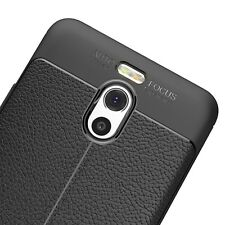 Cover + Vetro Temperato 9H Meizu M6 Note Carbon Silicone Frosted Noziroh Leather