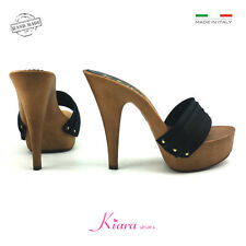 Holzschuhe schwarze Basis Mou Schuhe made in italy 35-36-37-38-39-40-41 Ferse 13