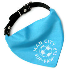 Man City Pet Bandana | football sup-paw-ter cats and dogs | Manchester, fun gift