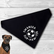Swansea Pet Bandana | for football sup-paw-ter cats and dogs | fun gift, swans