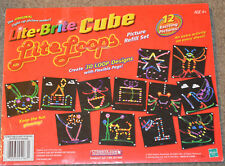 Lite Brite Cube Lite Loops 12 Picture/Pattern Page Refill Set New Sealed
