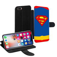 Superman Printed PU Leather Stand Wallet Case for Apple iPhone Models - 001