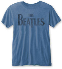 THE BEATLES' Drop T ' (Blue) Devoré T-SHIRT - Nuevo y Oficial