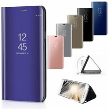 Huawei Mate 10 Pro P8 P9 Smart S View Mirror Leather Flip Hard Stand Case Cover