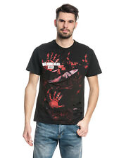 The Walking Dead Rick ALL Infectados Ripeado CAMISETA NEGRA