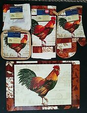 KITCHEN COLORFUL FEATHER ROOSTER THEME LINEN, Select Item