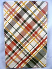 Assorted Sizes Beige Brown Green Gold Plaid Vinyl Tablecloth FREE SHIPPING