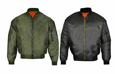 MA1 Mens Army Pilot Biker Bomber Security Fly Military Doorman Jacket Big Sizes
