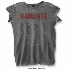 RAMONES' Red Logo SEAL 'Womens Burnout T-shirt - NUOVO E ORIGINALE