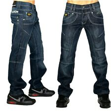 peviani Kreuz Star Jeans, Herren Denim Blau Urban Hose, Hip Hop Time Is G Money