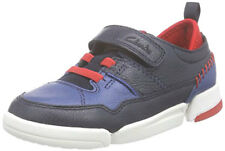 Clarks TRI SCOTTY Boys Navy Leather Trainers  Shoes 11 - 5 FG Fit