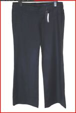 Bnwt Authentic Women's French Connection Stretch Wool Trousers Black RRP£80 New