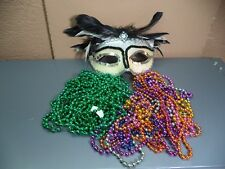 New Orleans Party Beads & Masks Mardi Gras Throws Parade Celebration Fat Tuesday