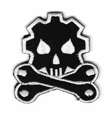 Army Tactical Morale Patch Biker Motorcycle Car Truck Mechanic Wrench Gear Skull