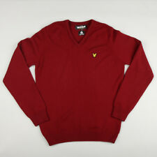 Lyle & Scott Vintage Vee Neck Lambswool Jumper KN036V02 - Berry