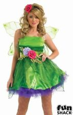 Deluxe Sexy Fairy Nymph Ladies Fancy Dress Costume Hen Party Outfit Size 8 - 26