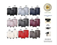 travel luggage Set of 3 piece wheel trolleys suitcase bag hard shell ABS
