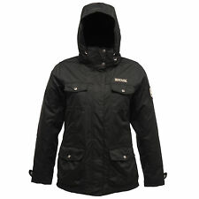Regatta da donna Rainfall 3 in 1 GIACCA IMPERMEABILE NERO rwp130 Outdoor