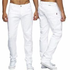 Vaqueros Hombre BLANCO TALLA ESPECIAL Denim Regular Ajustado Stretch W34 36 38