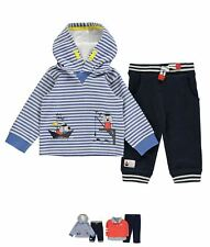 OFFERTA Crafted Two Piece Jogging Set Baby Boys OTH Blue Stripe