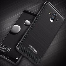 Cover 3D+Vidrio Templado Huawei Mate 10 Carbon Espesor Silicone Frosted Noziroh