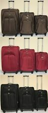 4 Wheel Suitcase Lightweight Soft Trolley Case Expandable Luggage Brown Blk Red