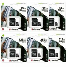 KINGSTON Micro SD 16 32 64 GB classe 10 MICROSD 80 MB/S Canvas SCHEDA MEMORIA OR