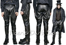 Punk Rave K-262 Victorian Rider Black Faux Leather Goth Steampunk Male Trousers
