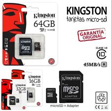 TARJETA MEMORIA KINGSTON MICROSD MICRO SD 16 32 GB 16GB 32GB Clase 10 Original