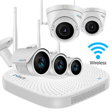 5 Zxtech Wireless Camera Recorder Cloud 30M Infrared 1080p IP66 Home CCTV System