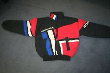 TOPSHOT HONDA BLACK/RED/WHITE/BLUE COTTON MOTORCYCLE PADDOCK JACKET - SMALL