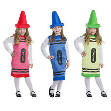 BUY KIDS CHILDRENS GIRLS BOYS CRAYON PENCIL FANCY DRESS COSTUME OUTFIT AGE 3-10