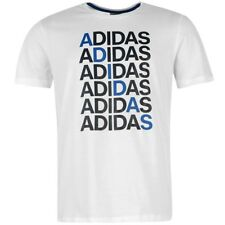 REPEAT LINEAR TEE M BLC - Tee-shirt Homme Adidas