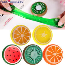 Fruit Slime Putty Clay Stress Relief Fluffy Floam Slime Kids Toy Play Fun Game
