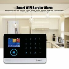 Smart WIFI Burglar Alarm Home Security GSM APP Control Voice RFID Alarm Kit ci