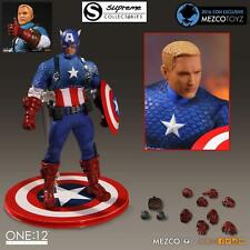 Mezco One:12 Collective Captain America Action Figure With Tin SDCC Exclusive