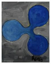 Ripple XRP Fan Art Print - Acrylic Textured Painting and Ink