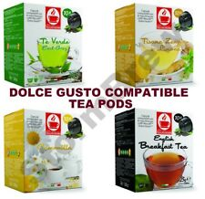 30 DOLCE GUSTO COMPATIBLE TEA CAPSULES PODS - LEMON, GREEN, ENGLISH BREAKFAST