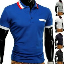 Polo Homme T-shirt polo polo stretch slim fit clubwear Chemise FIGO Plus