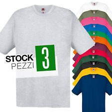 Pacco 3 Magliette Da Stampare Stock T-Shirt Cotone Fruit of The Loom Original T