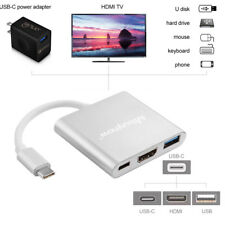 3 in 1 USB 3.1 Type C USB-C to 4K HDMI Charging Port HUB Adapter Cable for Mac