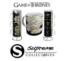 Official Game of Thrones - Set of 3 Ceramic Gift Stacking Mugs - Map of Westeros