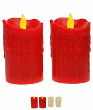 MODA Stanford Home 2 Pack LED Moving Flameless Candles Cream