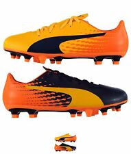 MODA Puma EvoSpeed 17.5 FG Football Boots Junior Yellow/Orange