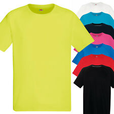 T-Shirt Sportiva Traspirante Uomo Maglietta Running Corsa Fruit of The Loom